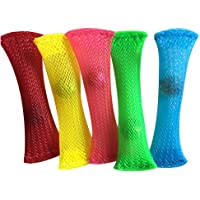Fidget Toys Braided Mesh Tube with Marble Package of 4 Random Color