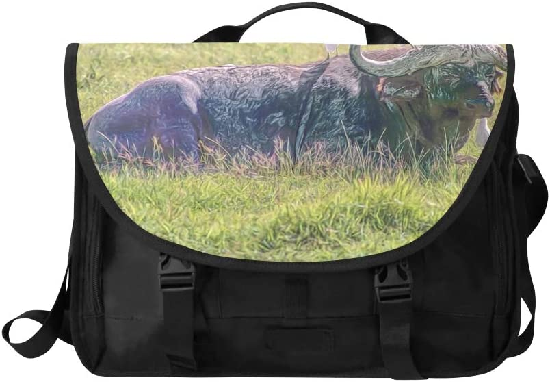 Handbags Satchel Beautiful African Buffalo Sunset Multi-Functional Womans Carryon Bag Fit for 15 Inch Computer Notebook MacBook