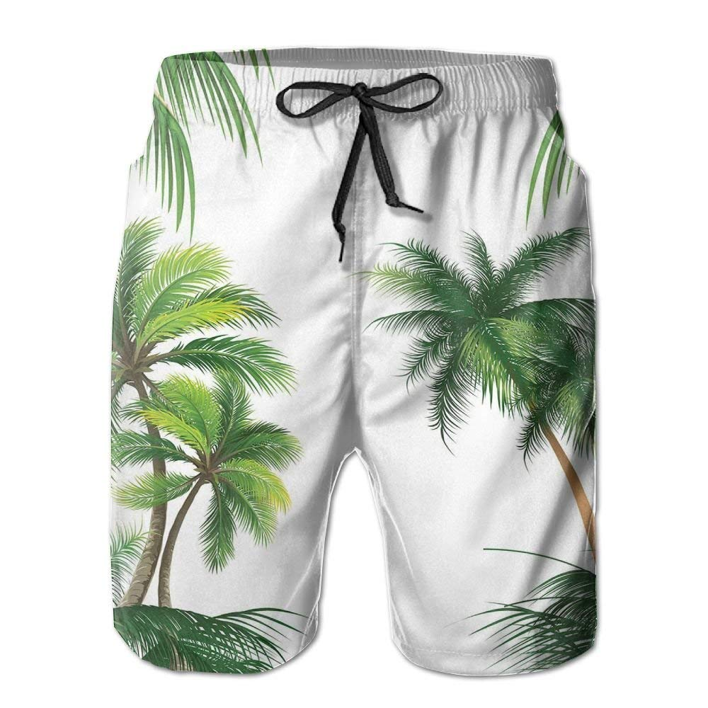 ZAPAGE Mans Old Newspaper Quick Dry Lightweight Boardshort Printed Beach Volleyball Short with Pocket