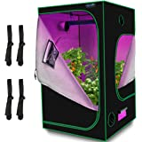 """Quictent 4x4x6.5 ft Grow Tent 48""""x48""""x78"""" Mylar Hydroponic Plant Growing Tents with Observation Window and Removable Floor Tr"""