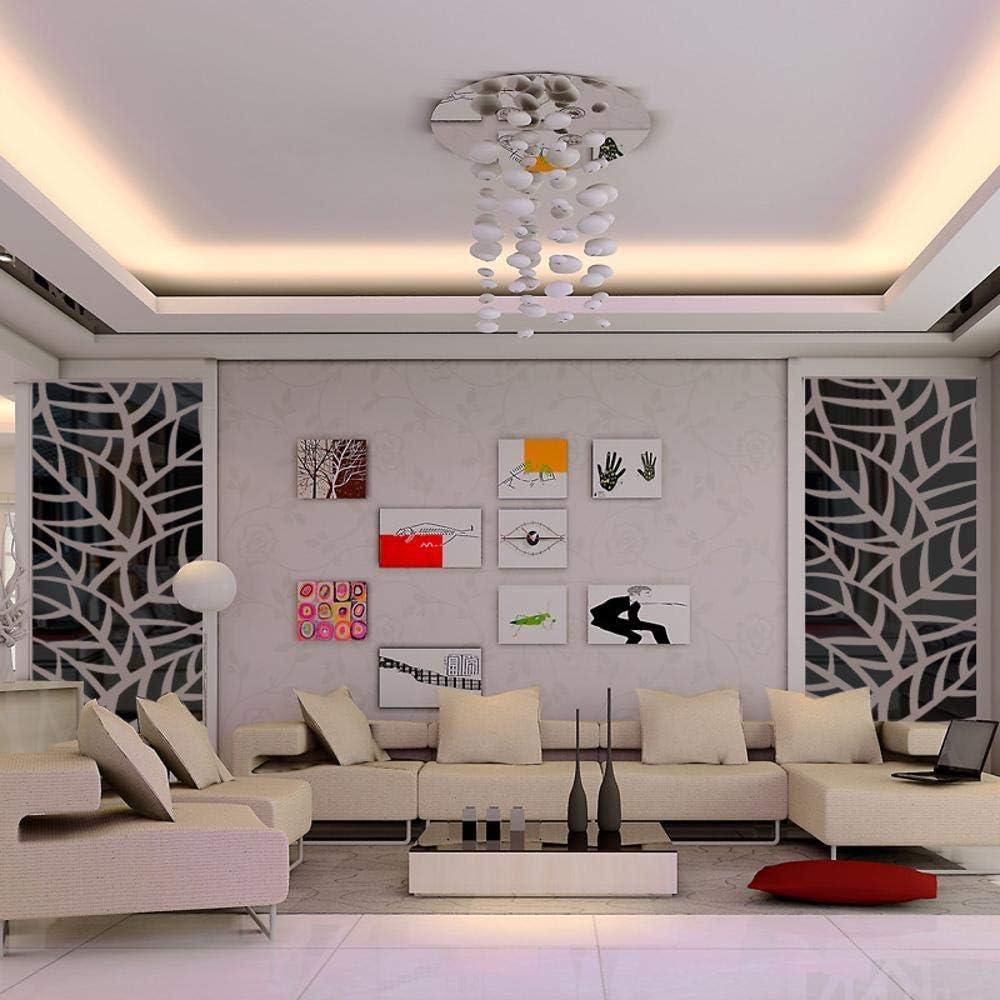 zhenfa Miroir Auto-adh/ésif de Plante mod/èle Wall Stickers Vivant Le Mur d/écoratif Fond d/'entr/ée Miroir Ja st/ér/éoscopique 3D Clico enl/èvement des Stickers muraux environnementale