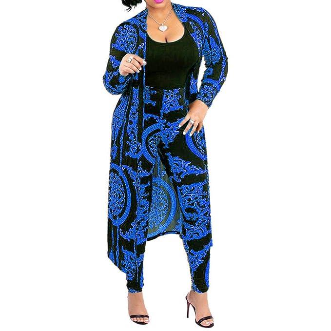 Amazon.com: 2 piezas trajes para mujer – estampado floral ...