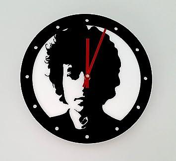 Reloj de pared original Bob Dylan, metacrilato, silencioso, moderno: Amazon.es: Hogar