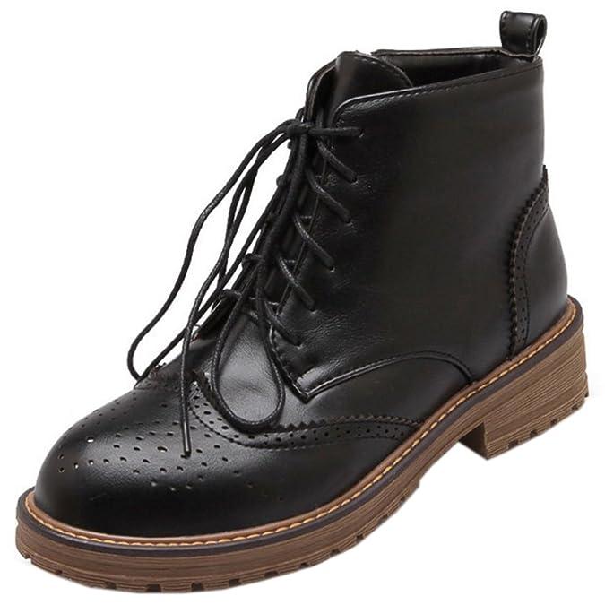 FANIMILA Women Boots Zipper Oxford B0777LRZPF