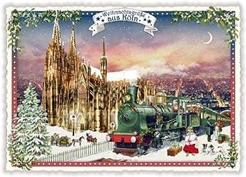 Nostalgische Weihnachtskarten Kostenlos.Nostalgische Weihnachtskarte Weihnachtsgrüße Aus Köln Dom