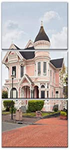 victorian house romantic scenery stock pictures royalty free photos Framed Canvas Print Painting Wall Art Picture Gallery Wrapped Artwork For Living Room Nursery Wall Poster Home Decor 50x70cmx3pcs