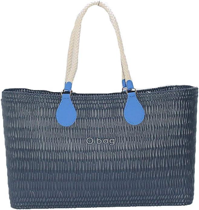 OBAG - Bolsa o bolsa de playa azul sin bolsa, mango de algodón, gota azul: Amazon.es: Zapatos y complementos