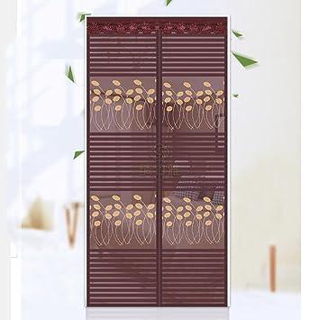 Q&F Mosquitera Puerta corredera Cortina mosquitera magnética para Puerta Mosquitera Puerta Exterior Impide mosquitos-100x210cm