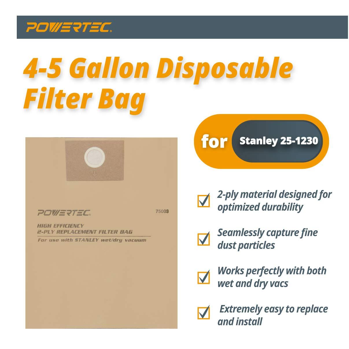 Amazon.com: Powertec 75003 alta eficiencia 4 A 5-Gallon ...
