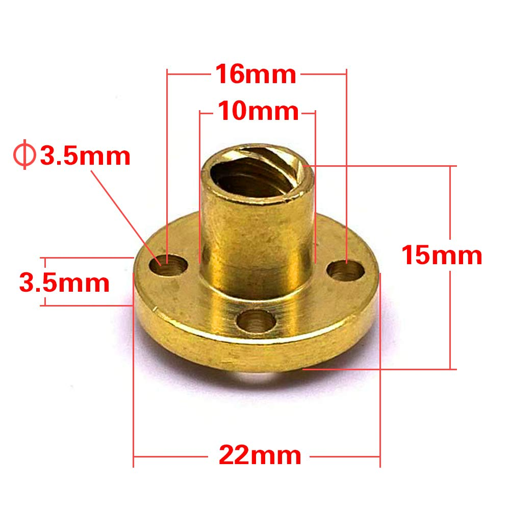 for LCD DLP SLA 3D Printer and CNC Machine Z Axis 300mm 8mm T8 Stainless Steel Lead Screw+Brass Nut