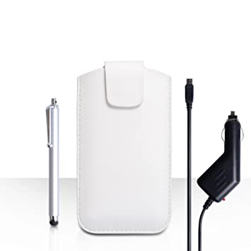Yousave Accessories OnePlus One, blanco funda de piel ...