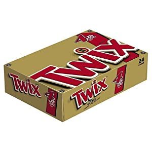 TWIX--Sharing Size Candy Bars--Classic Caramel Chocolate Cookie Bar Candy--Crunchy--24-3.02oz. Bars