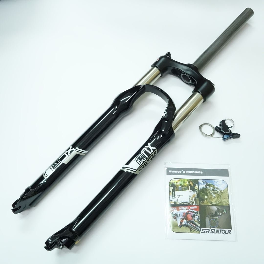 SR Suntour XCR RL Air Spring MTB Bike Fork 29'' Black Straight Headtube 1 1/8'' 100mm Disc Brake Remote Lockout QR 9mm