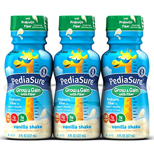 PediaSure Nutritional Drink With Fiber, Vanilla, 6 Count by PediaSure