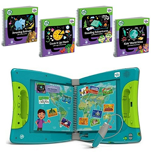 LeapFrog LeapStart Interactive Learning System Kindergarten & 1st Grade For Kids Ages 5-7, With Level 3 Kindergarten Educational Activity Books Set, Learn Basic Skills For Life, Fun Activity Bundle ()