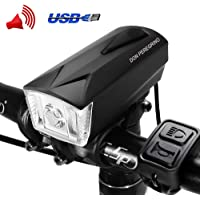 Don Peregrino Led Bike Front Light, Waterproof & Rechargeable Bicycle Headlight