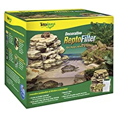 The ReptoFilter allows you to instantly create a beautiful waterfall and basking area for Newts, Frogs, and Turtles in any aquarium up to 55 gallons. Features include integrated three-stage Whisper filtration, which uses easily replaceable Bi...