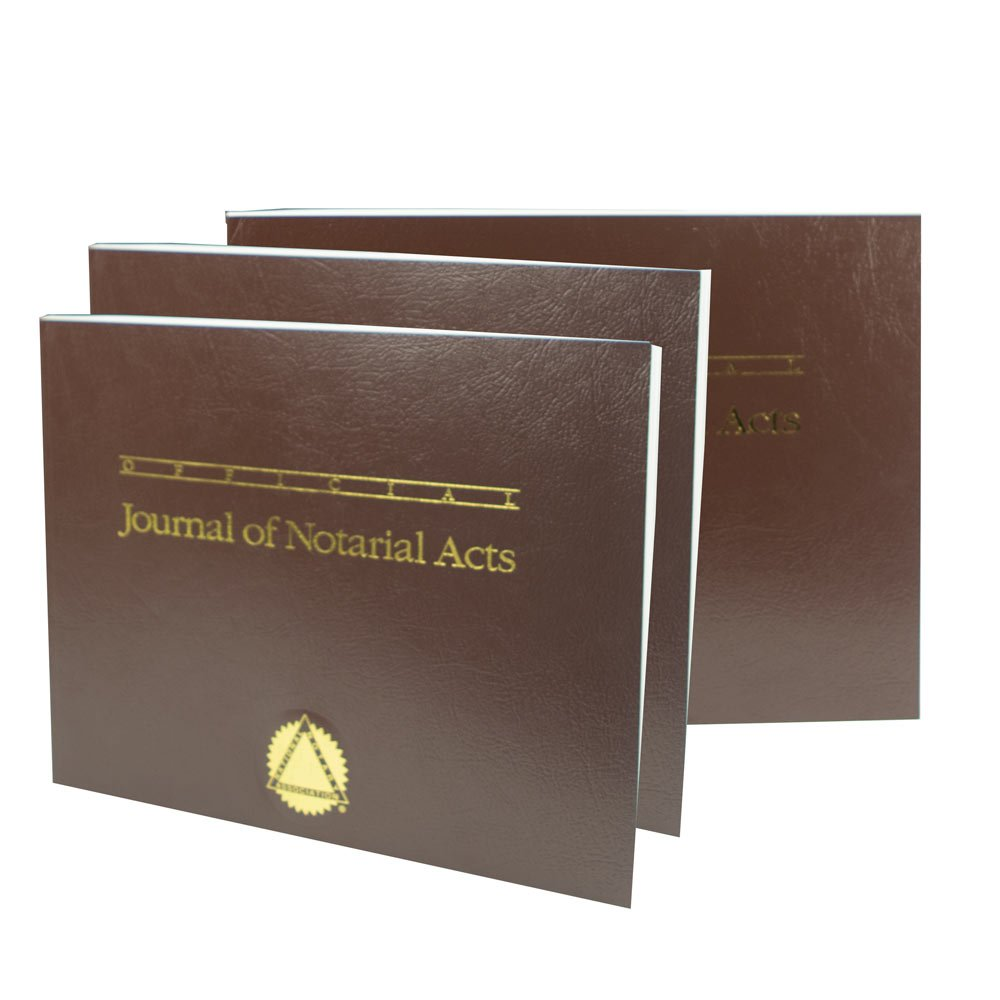 Official Journal of Notarial Acts (Softcover Brown 3-Pack)
