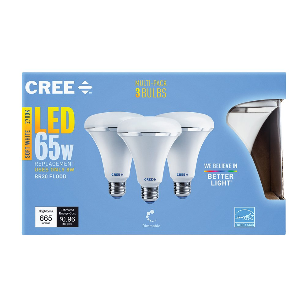 Cree SBR30 06527FLFD 12DE26 1 13 Replacement Dimmable 3 Pack Image 2