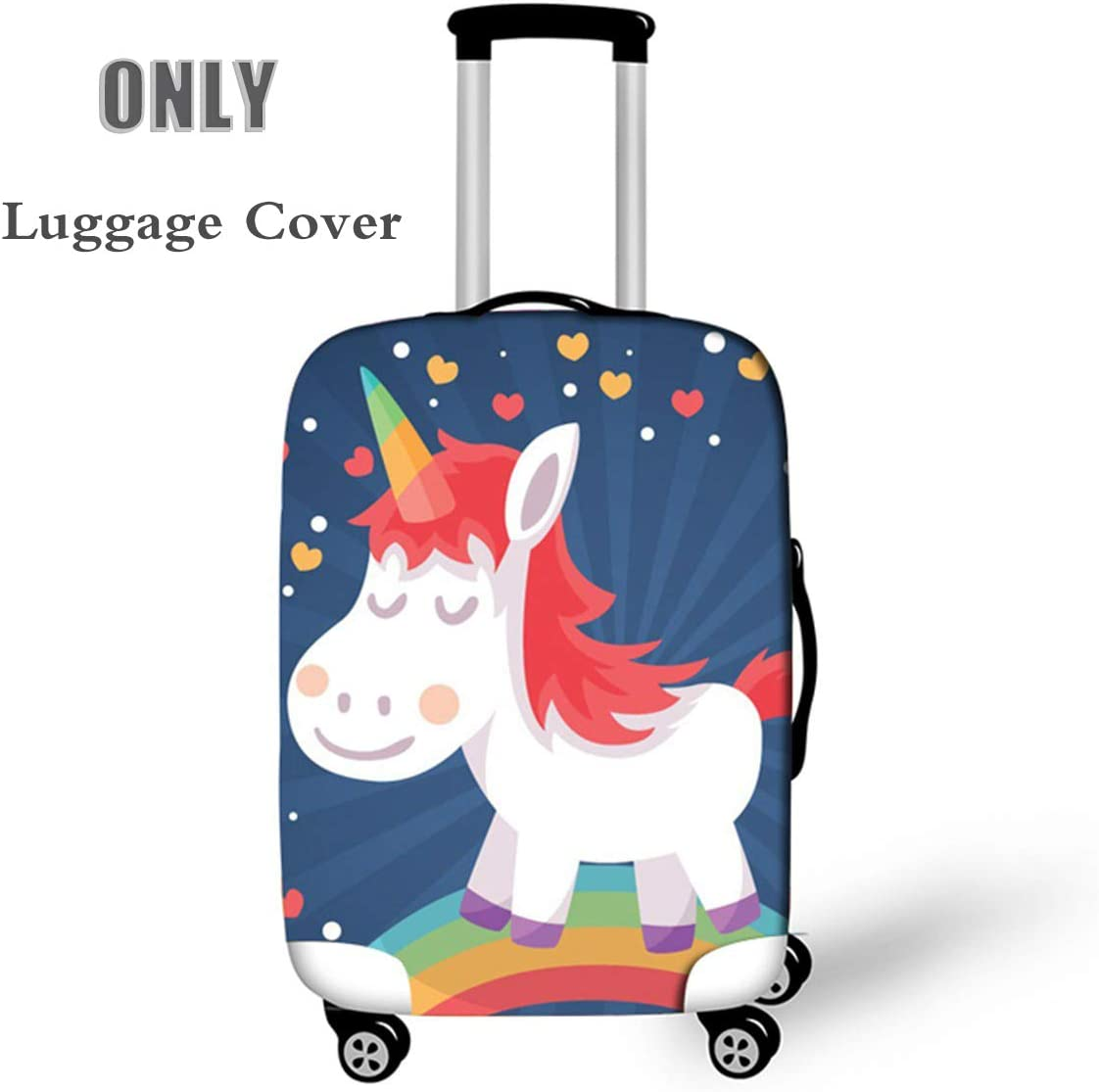 S OSVINO Cartoon Cute Unicorn Luggage Cover Durable Elastic Travel Suitcase Protector Unicorn A for 19-21 Luggage