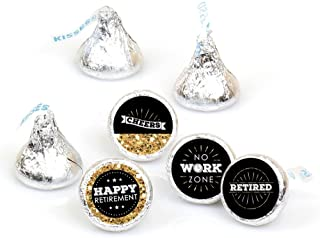 product image for Happy Retirement - Retirement Party Round Candy Sticker Favors - Labels Fit Hershey's Kisses (1 Sheet of 108)