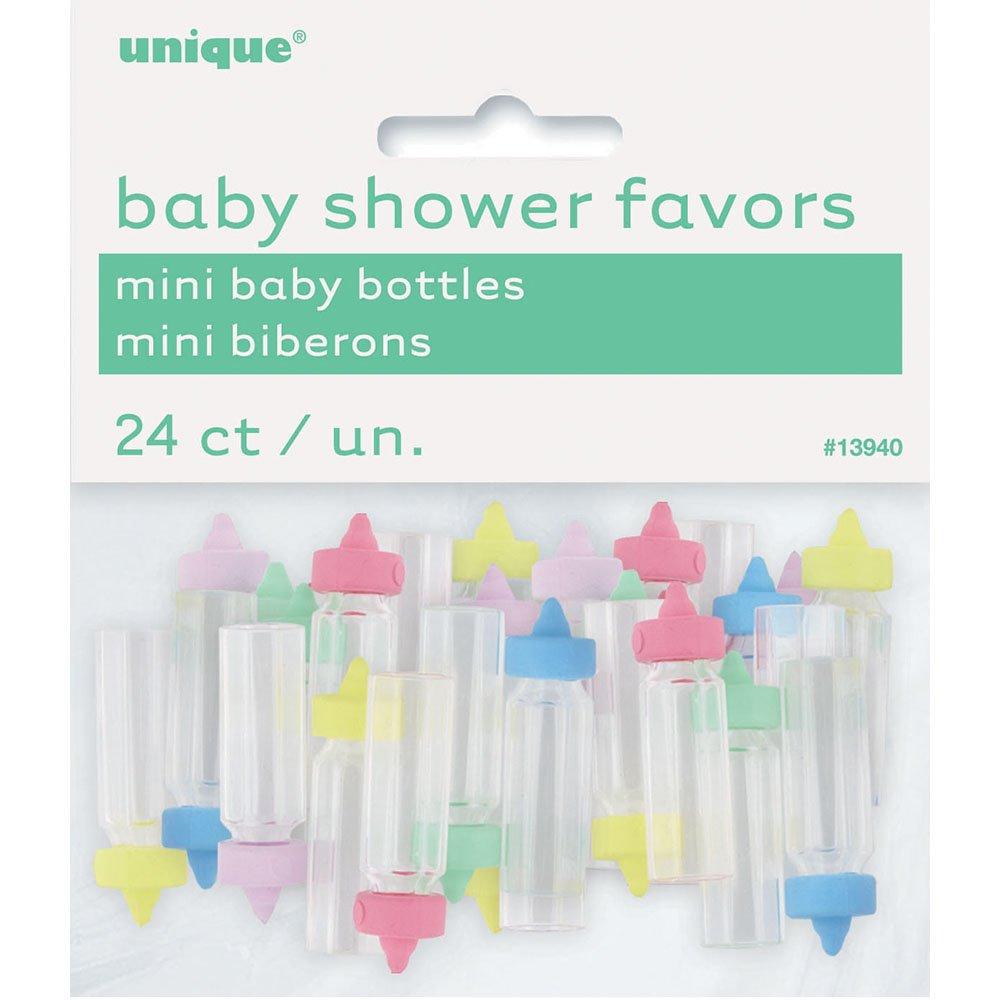24ct Unique 13940 Mini Plastic Baby Bottle Gender Neutral Shower Favor Charms