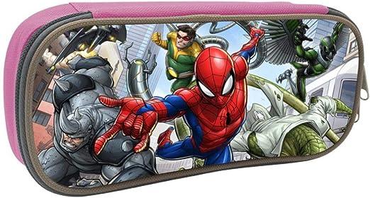 Marvel Avengers Spiderman - Estuche escolar para estudiantes, diseño de Spiderman, Rosa, ONE_SIZE: Amazon.es: Amazon.es
