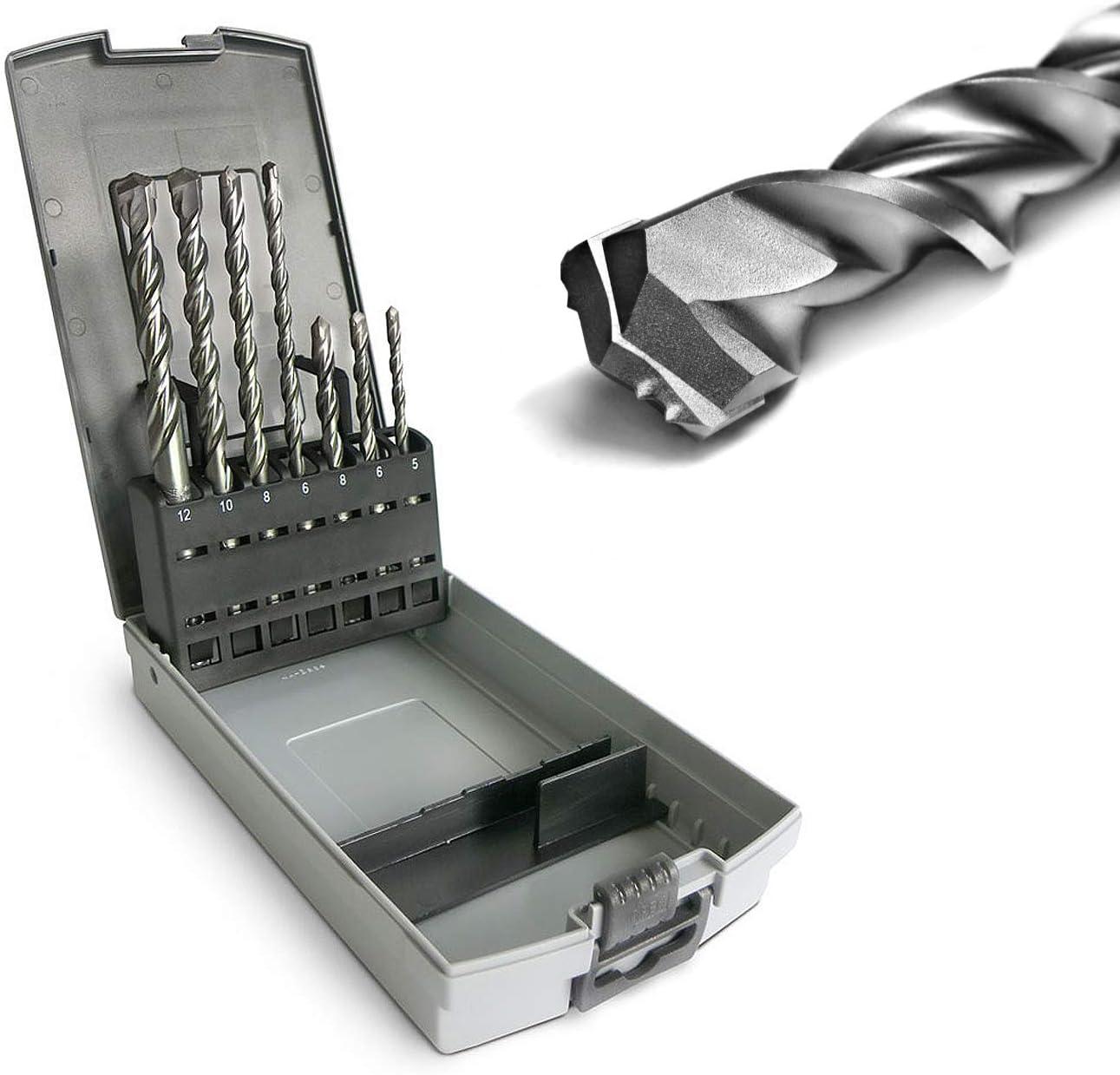 Hilka Tools 2 6mm SDS Hammer Drill Bit Set Masonry Carbide Tip Concrete Marble
