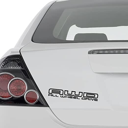 AWD All-Wheel Drive Decal Sticker Car Vinyl pick size color die cut no bkgrd