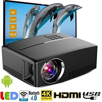 Big Forest Proyector LED HD, 1800 lúmenes 800 * 480 PC USB ...