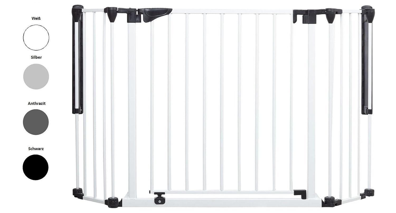 Original IMPAG® Treppen und Tür-Schutzgitter Discovery | 80-125 cm | Automatik-Tür | 90° Feststell-Funktion | Einhandbedienung | Öffnet in beide Richtungen | Sicherheitsgeprüft 1930:2011 Impag GmbH