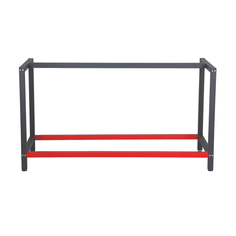 Telaio per banco da lavoro 150x57x81 cm acciaio antracite-rosso base per tavolo