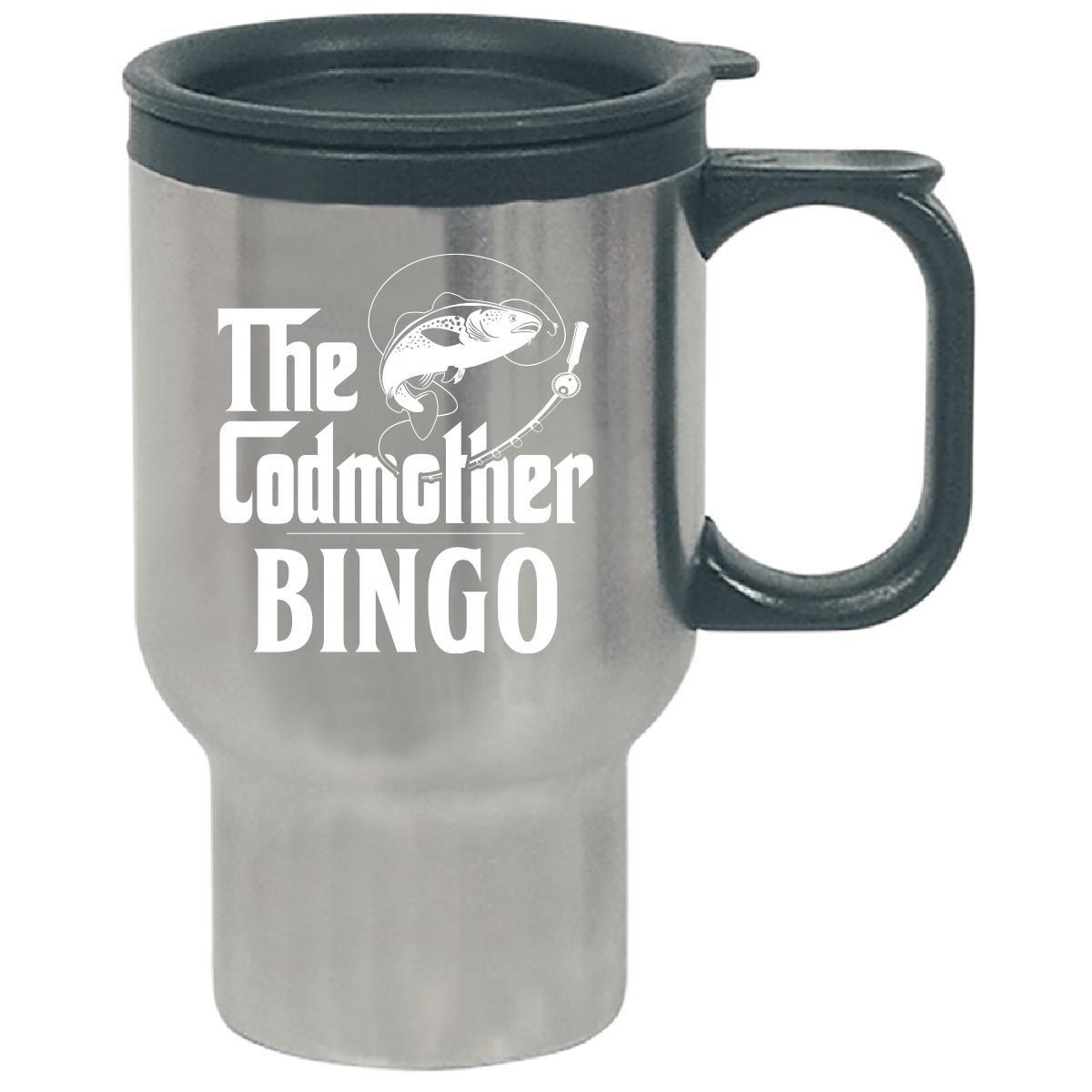The Codmother Bingo Custom Name Fishing Mothers Day - Travel Mug