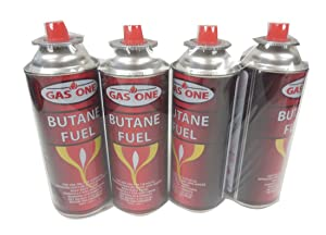 Gasone Butane Fuel Canister (4pack)