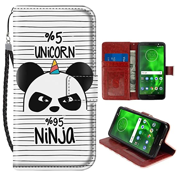 Amazon.com: DeweiDirect Moto G6 Plus Ninja Panda Unicorn ...