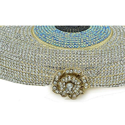 Diamant De D'embrayage De Chaîne Banquet Mode De Sac De Luxe De De De Strass Dîner Sac Soirée De Sac gold Plein Dames Main à De Sac De Sac Mariée 7daqdC