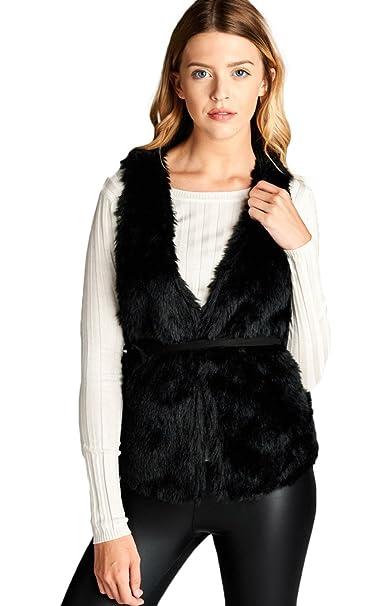 Amazon.com: 2LUV sin mangas de la mujer Fringe chaqueta de ...