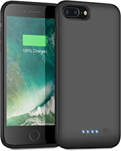 Ekrist Battery Case for iPhone 8plus/7plus/6 Plus/6s Plus, 8500mAh Protective Portable Charging Case Rechargeable Extended Battery Pack for Apple iPhone 8plus/7plus/6 Plus/6s Plus(5.5')