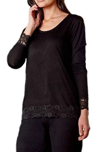 Pijama Mujer De Entretiempo Guasch Negro Lencero De Viscosa KE490 D.104 (M)