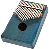 Dovewill Portable Solid Mahogany 17 Key Kalimba Mbira with Bag African Musical Instrument Birthday Gift Blue