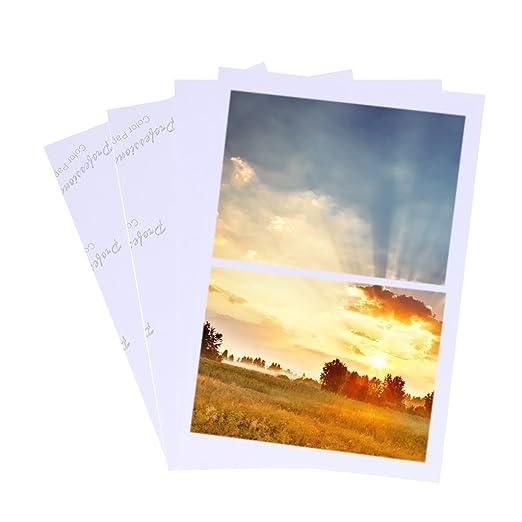 BINGHONG3 100 Hojas de Papel fotográfico Brillante 4R de 4 x ...