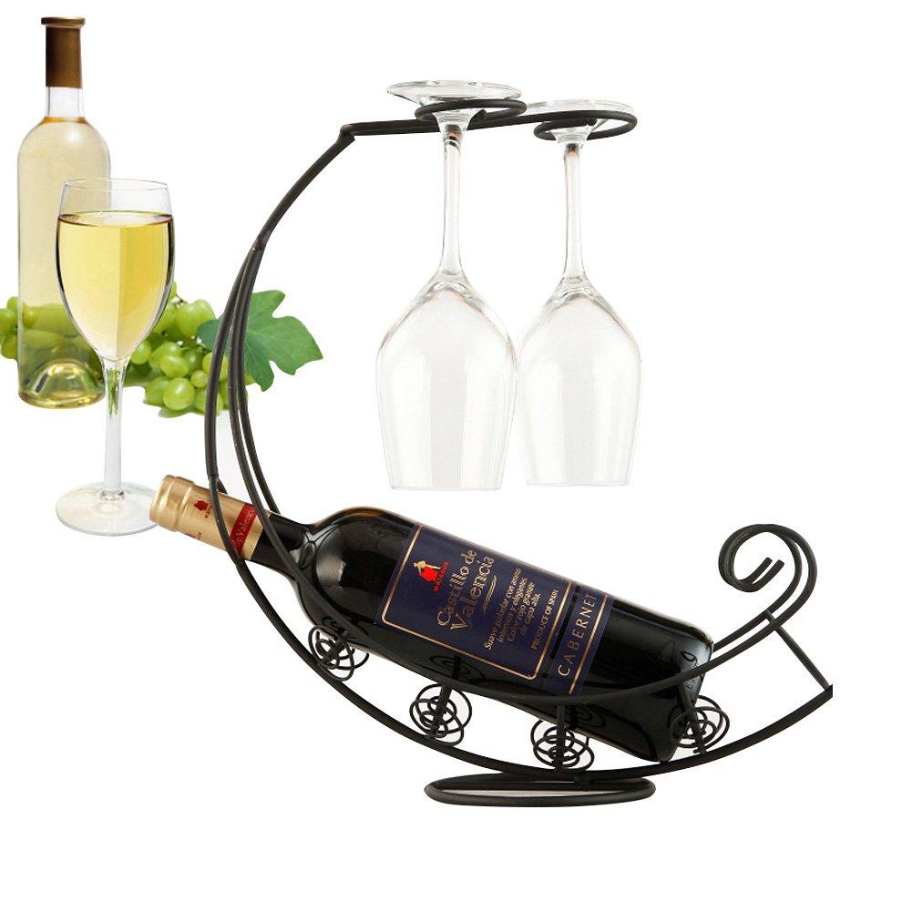Soportes para botella de vino soportes decorativos con botellero y montado en soporte de cristal creativo de gama alta Vino almacenamiento Colección: ...