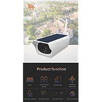 Ovegna BC04 (Nuevo): cámara IP Solar HD 1080P / 2MP, Seguridad para Exteriores, bajo Consumo de energía, Circuito Cerrado de televisión inalámbrico Pir, detección de PIR, envío de Correo electrónico