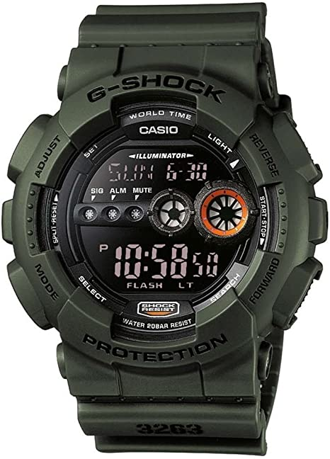Casio G-SHOCK Reloj Digital, 20 BAR, Verde, para Hombre, GD-100MS-3ER