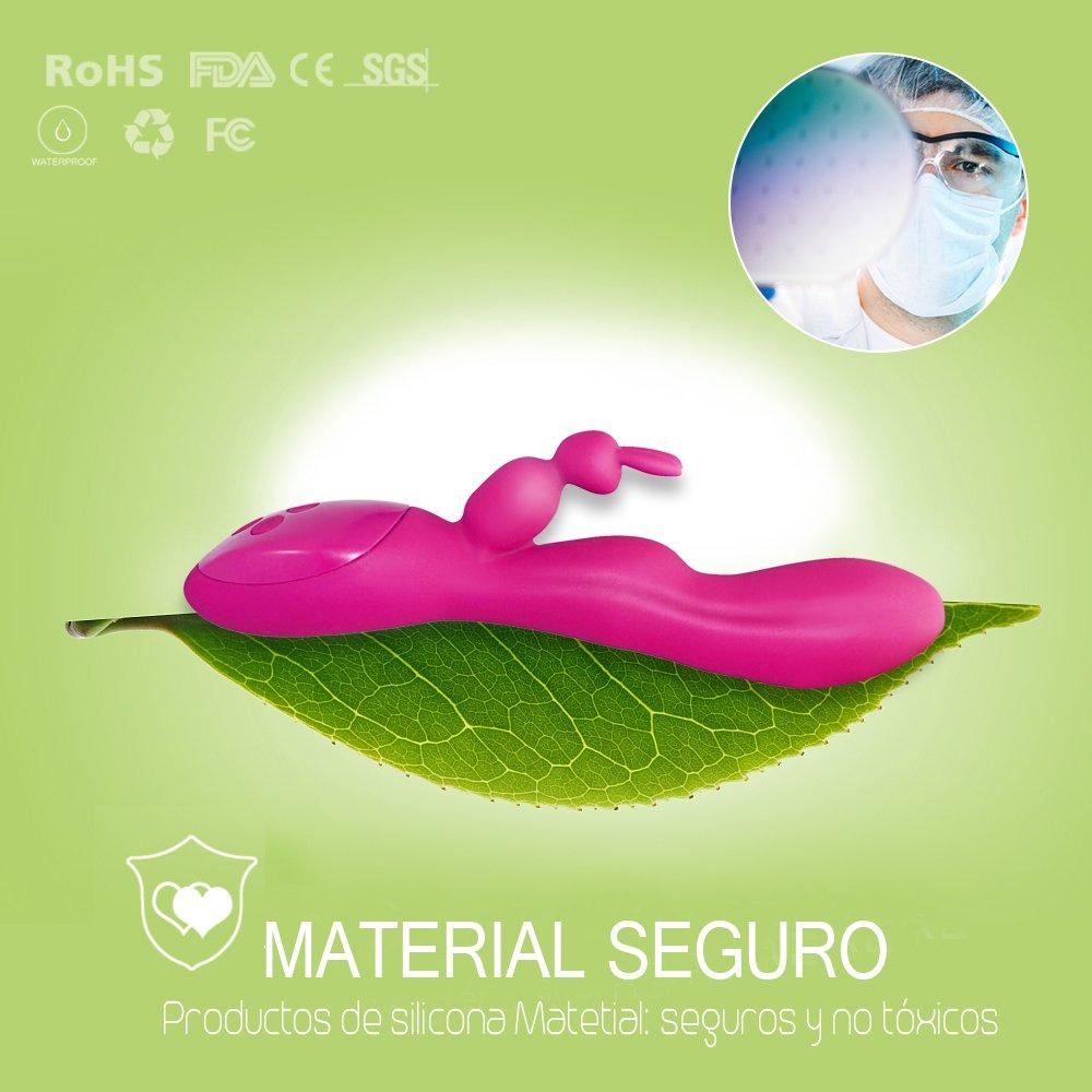 linjinfeng Juguete Sexual - Rabbit Vibrator 12 Modos y Para Carga USB Para y Relajar el Cuerpo G-Spot Vibrador Estimulador (Rosa) cf7944