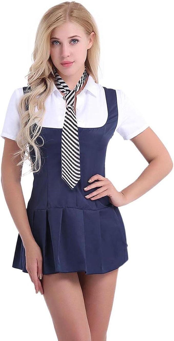 iixpin Conjunto de Lencería Disfraz de Colegiala para Mujer ...