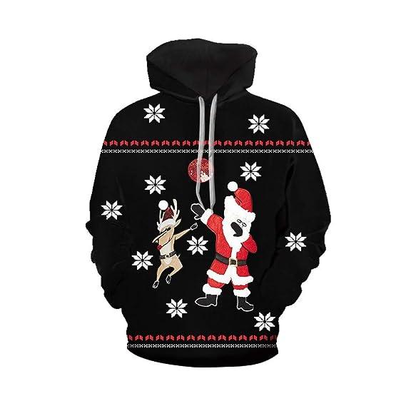 Navidad Sudadera con Capucha 3D Impresión Jerseys Gracioso Chándal ...