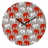 Deny Designs Holli Zollinger,  Elephant Walk , Round Clock, Round, 12''