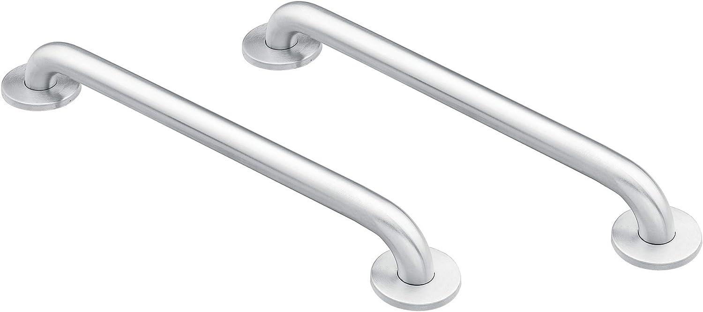 Moen 8912 Home 12-Inch Bathroom Grab Bar, Stainless Steel with Moen 8732 Home 32-Inch Bathroom Grab Bar, Stainless