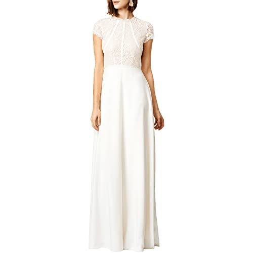 WOOSEA Womens Retro Floral Lace Wedding Maxi Bridesmaid Long Dress